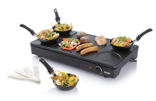 3in1 Gourmet-Set Party-Wokset Pfannkuchen Family Crepes Pancake Maker Wok Grill