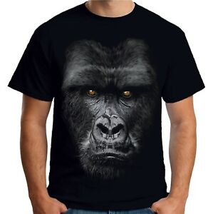 67e5b6a31 Image is loading Velocitee-Mens-Majestic-Gorilla-Face-T-Shirt-Mountain-