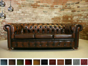 3 Seater Genuine Leather Sette Couch