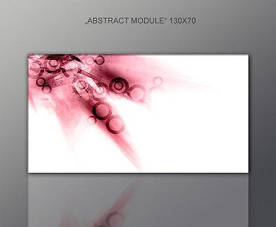 DESIGNBILDER WANDBILD abstrakt modern schwarz rot  Wohnzimmer Kunst 130x70cm