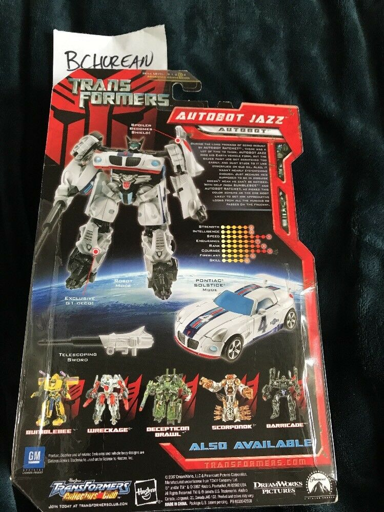 Transformers 2007 Movie Deluxe Class Jazz Target Exclusive G1 Deco Deco Deco New 77e7f0