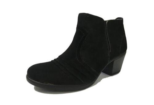 Earth Spirit Lakewood Ladies Creased Zip Cuban Block Heel Ankle Boots