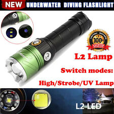 Dive CREE XML L2 LED Scuba Diving Flashlight 5000 LM Torch UV Lamp Waterproof