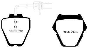 DP41348R EBC Yellowstuff FRONT Brake Pads fit AUDI VW