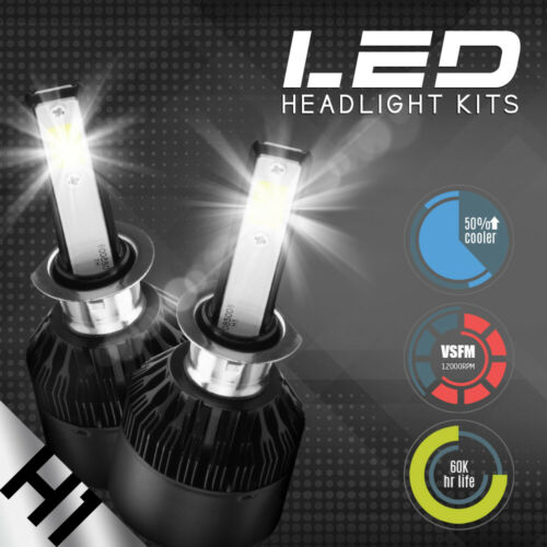 NEW 2x H1 10000K Deep Blue 100W Cree LED Headlight Bulbs Kit Fog Driving Light