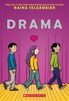 Drama By Raina Telgemeier (2012, Paperback) Graphic Novel Chapter Book