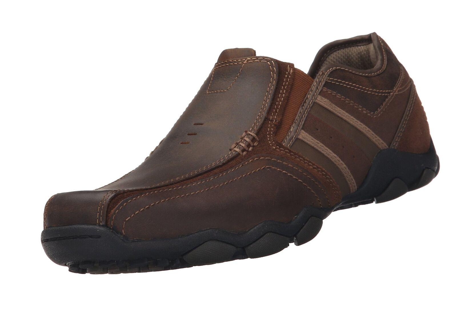 Skechers Men's Diameter-Zinroy Slip-On Loafer Dark Brown 11 D(M) US