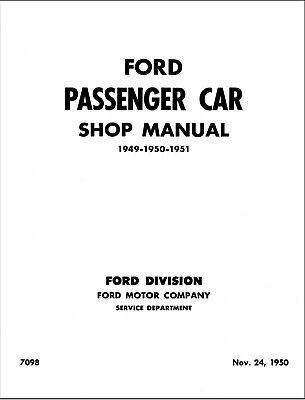 research.unir.net 1949 1950 1951 Ford Car Shop Manual on PAPER 49 ...