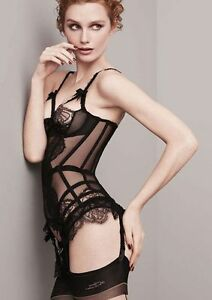 Image is loading AGENT-PROVOCATEUR-ALINA-BLACK-BASQUE-BNWT-SIZE-36C- da9d31522