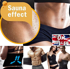 Men Ladies Fitness Sauna Exercise Belt Tummy Trimmer Wrap Sweat Band for Abs UK