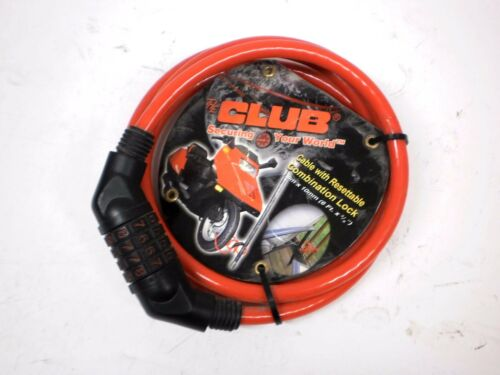 """The Club 6/' Long 3//8/"""" Thick Cable with Re-settable 4 Digit Combination Lock Bike"""