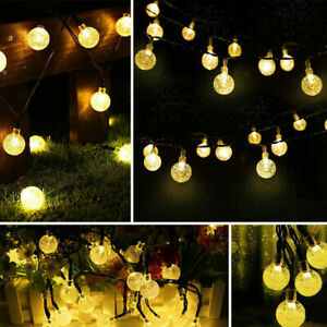 Outdoor Solar Powered 50 LED String Light Garden Patio Yard Landscape Lamp Party