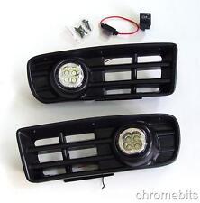 LED FOG DRL DAYTIME RUNNING LIGHTS LAMPS GRILLE SET FOR VW GOLF MK4 IV 1997-2006