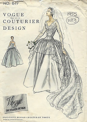 1114R 1955 Vintage VOGUE Sewing Pattern B34 COAT /& DRESS