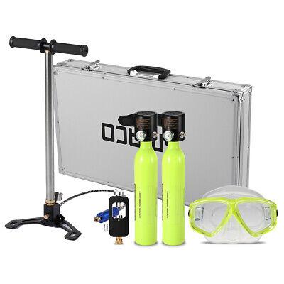 SMACO S300 Mini Diving Kit+Air Pump Breath Underwater Scuba Oxygen Tank UK N3A9