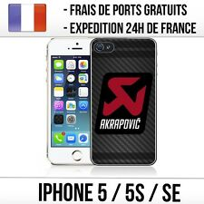 Coque iPhone 5 / 5S / SE - Akrapovic Carbone