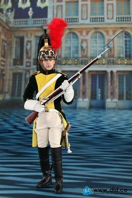 "DID 1//6 Scale 12/"" Napoleonic French Dragoon Herve Action Figure 80104"