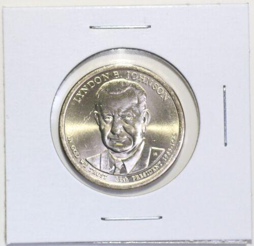 2015 D Lyndon B Johnson Presidential Dollar Coin Uncirculated Denver BU LBJ