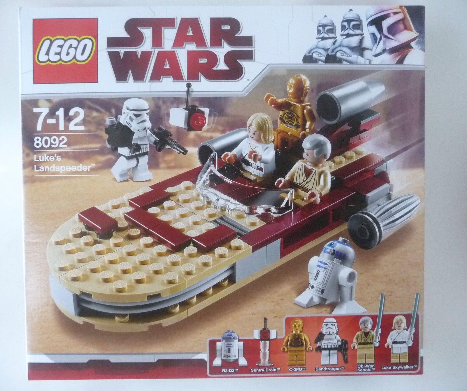 Lego Star Wars 8092 Luke's Landspeeder BNIB inc R2-D2 C-3PO Obi-Wan Kenobi