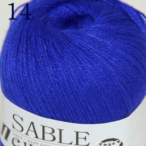 Venta 8 Madejas Súper Puro Sable Cashmere Bufandas Hand Knit Wool hilo de ganchillo 14