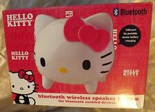 New KT4557 White / Pink Hello Kitty Bluetooth Speaker System w/ USB Port BNIB