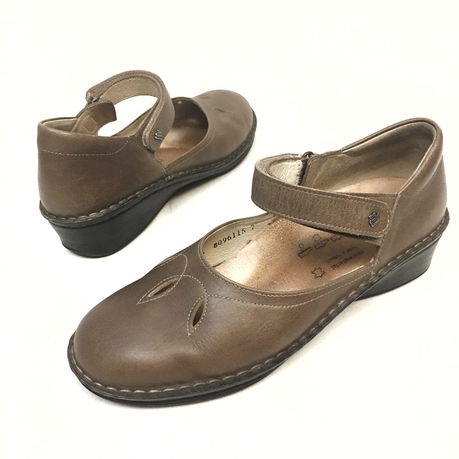 prima i clienti Finn Comfort Canberra Canberra Canberra donna's Mary Jane Flat Marronee scarpe Sz UK6.5 US 9 Comfort  autentico