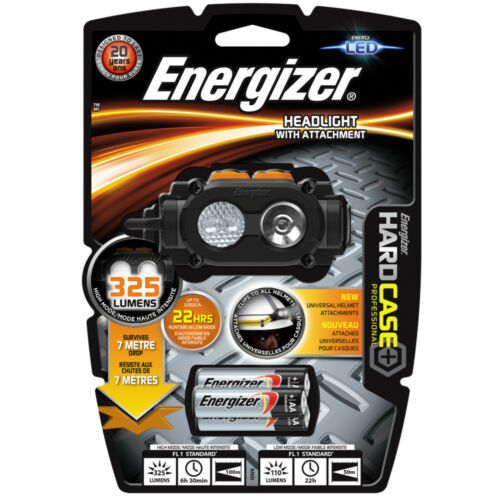 Energizer HEAD LIGHT TORCH PROFESSIONAL ROUGH USE 3 AA batteries 325lm