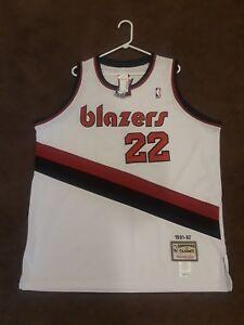 online retailer 7a9b5 59d4b Details about NWT M&N NBA Portland Trailblazers Clyde Drexler 22 Throwback  Jersey Mens 54 xxl