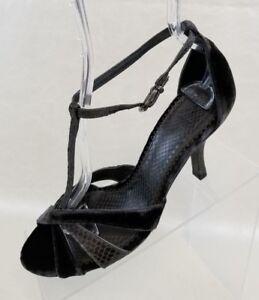Vincent Grijs Hakken 5m strap J Print T Snake Dames schoenen Leder 7 Gesp Fluwelen dnZqW4FWw