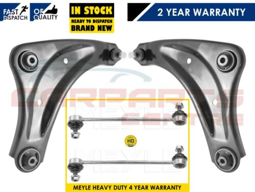 FRONT LOWER WISHBONE ARMS ARM MEYLE HD LINKS PAIR NEW FOR NISSAN JUKE F15 2010