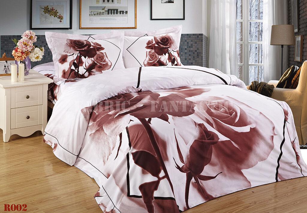 R002 Queen King Size Bed Duvet Doona Quilt Cover Set New 100% Cotton