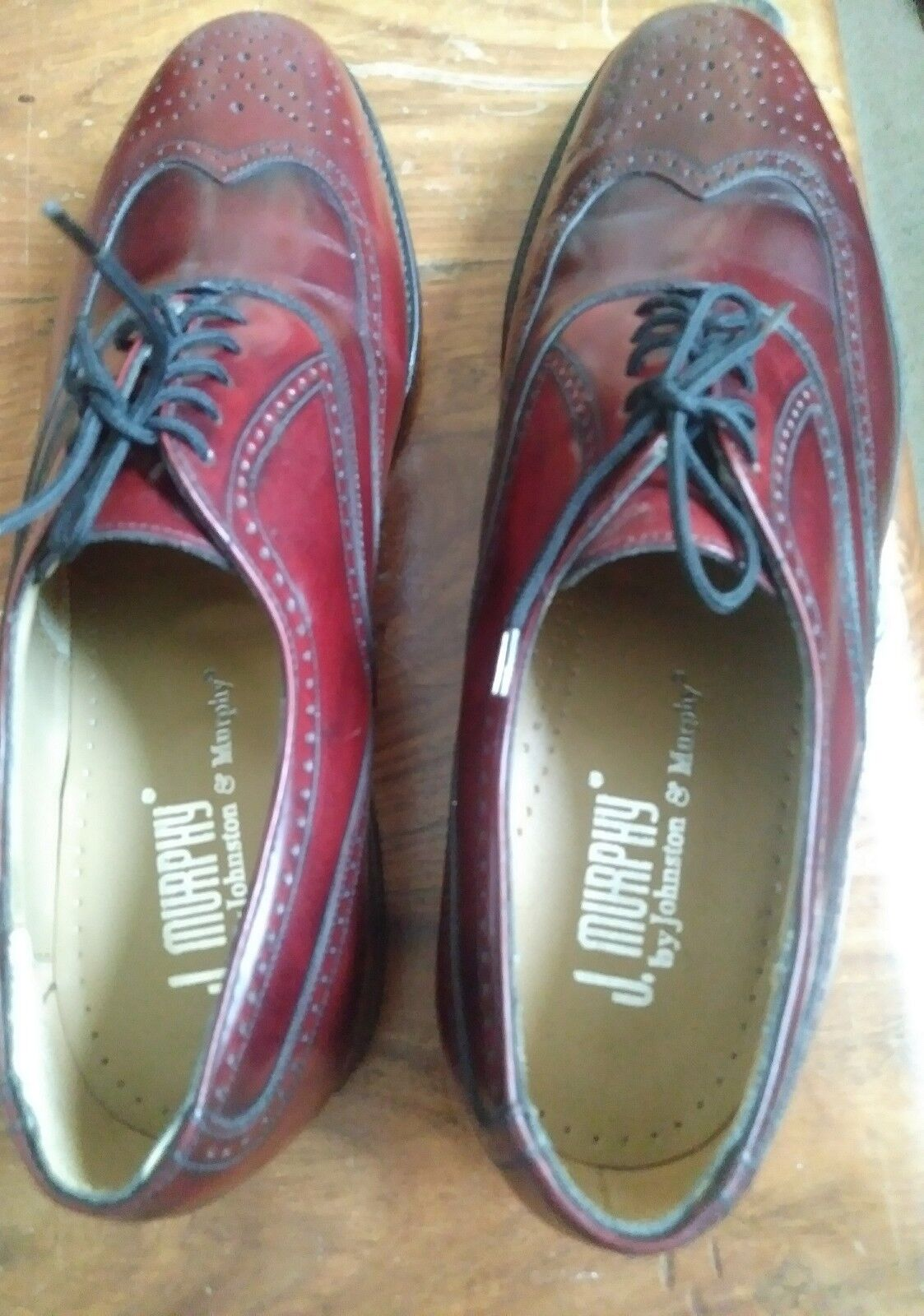 J. Murphy By Johnston Murphy Men's Burgundy Wingtip Oxfords Oxfords Oxfords dress scarpe 7 M 665459