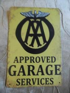VINTAGE METAL ADVERTISING SIGN  GARAGE WALL PLAQUE *ASK FOR SHELL MOTOR OIL* FAB