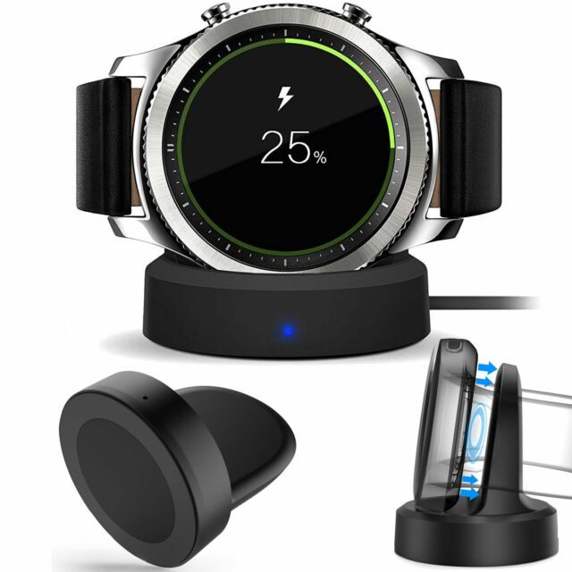 Qi Wireless Charging Dock Cradle Charger for Samsung Gear S3 Classic / Frontier