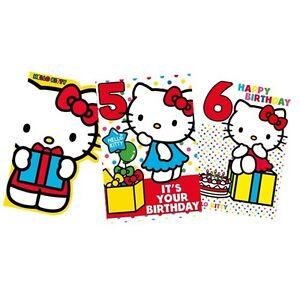 Hello kitty birthday cards cardpartygreetings cardsage123 image is loading hello kitty birthday cards card party greetings cards m4hsunfo