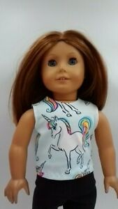 """Unicorn Tank Top fits American Girl Dolls 18"""" Doll Clothes"""