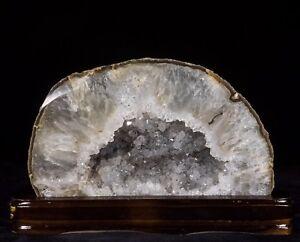8Lbs-Agate-Geode-Crystal-Quartz-Polished-Druzy-Specimen-Cluster-Brazil