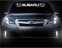 Subaru Front Windshield Vinyl Decal Banner 2 Logos Car Decals Sticker Stickers