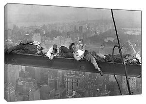 Modeste 1900 S Travailleurs De La Construction Une Sieste Wall Art Imprimé Sur Toile Photos Photos-afficher Le Titre D'origine Un RemèDe Souverain Indispensable Pour La Maison