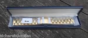 Massiv-Uhrenarmband-gold-poliert-22mm-477-22-Edelstahlarmband-angenehm-zu-tragen