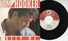 TOM HOOKER disco 45 g STAMPA ITALIANA Help me + new help me 1986 MADE IN ITALY