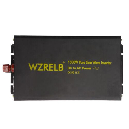 24V to 120V DC to AC Power Inverter 1500W Pure Sine Wave Inverter Solar system