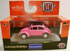 1967 '67 VW VOLKSWAGEN BEETLE BUG DELUXE USA PINK M2 MACHINES DIECAST 2016 RARE!