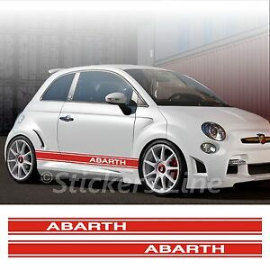 Adesivi-Fiat-500-ABARTH-fasce-CONTINUE-strisce-fiancate-fiat-500-spatola-OMAGGIO