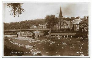 POSTCARDS-SCOTLAND-DUMFRIESSHIRE-LANGHOLM-RP-The-Church-and-Bridge