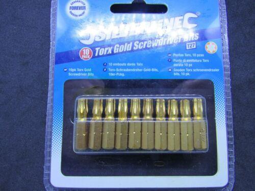 Torx Or embouts de Tournevis Silverline Pkt 10 plusieurs disponible