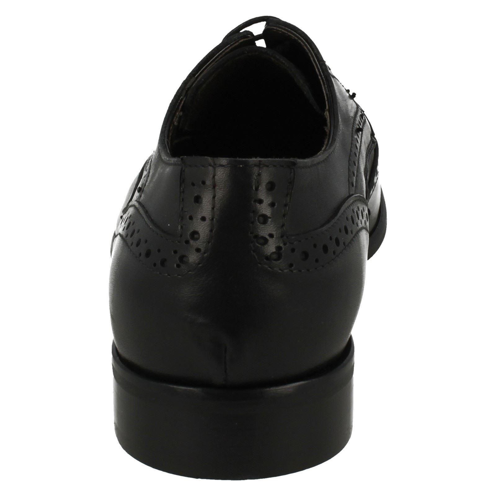 Morena Gabbrielli fa-b2423 Herren Smart schwarzes Leder zum Schnüren