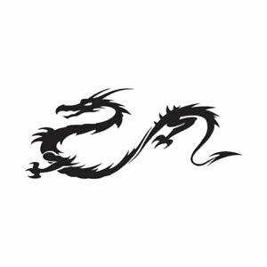 Multiple Patterns /& Sizes Vinyl Decal Sticker Chinese Dragon Head ebn1141