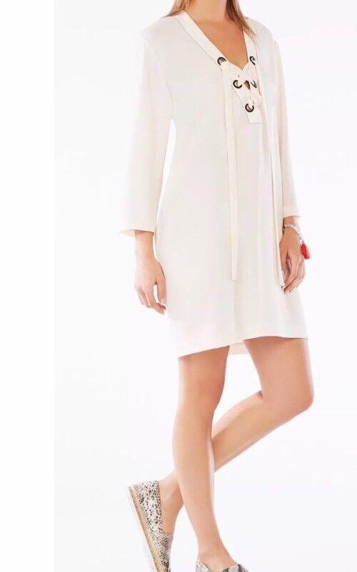 New WITH Tag  228 BCBG Max Azria Tonya Lace-Up Tunic Dress