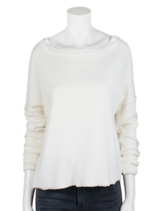 NWT-STATESIDE NATURAL Sherpa Terry Sweatshirt SMALL-MED ORIG$108